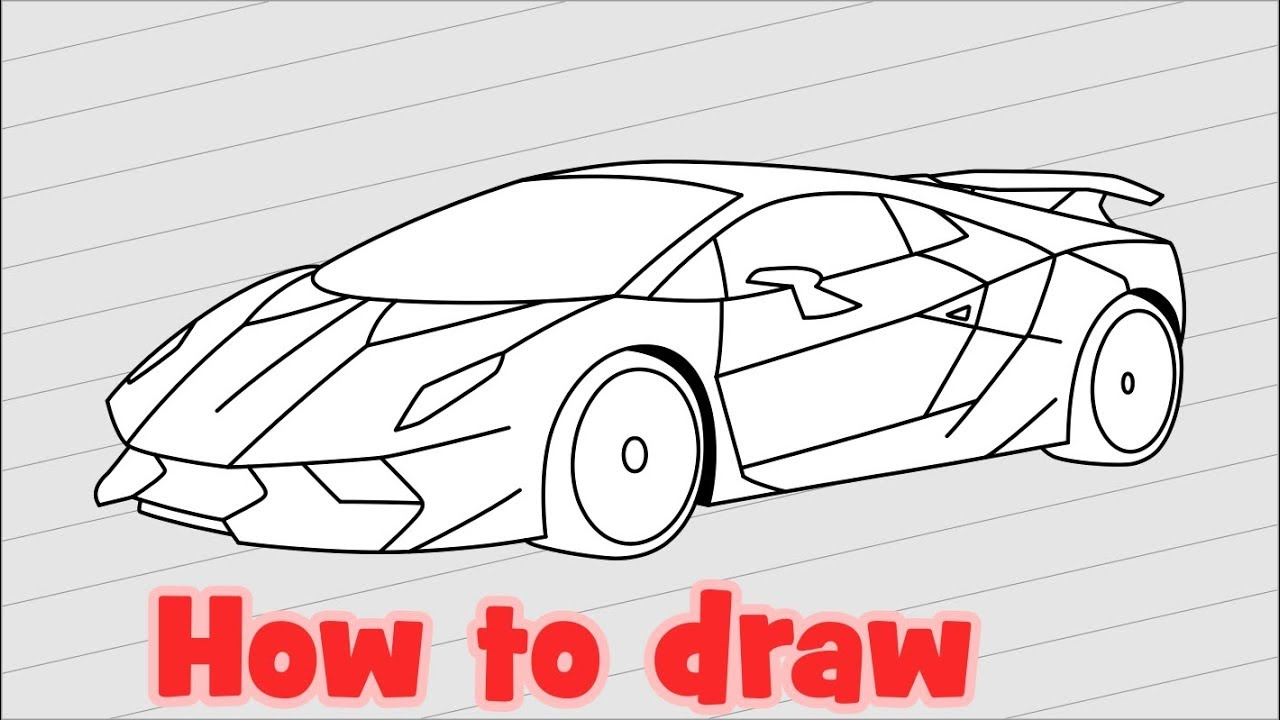 How To Draw Lamborghini Sesto Elemento Youtube