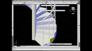 Costruire una ringhiera per una scala a chiocciola con Autocad Railing for a Spiral Staircase