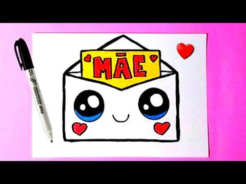Como Desenhar Cartao Para O Dia Das Maes Carta Kawaii Desenhos