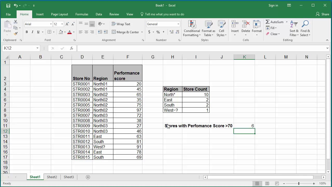 How To Count Number Of Cells In A Range Of Data Using Countif Function In Excel  2016 Find Easy Solution