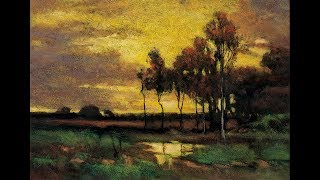 Study by M Francis McCarthy after Sunset Landscape by J Francis Murphy 7x10