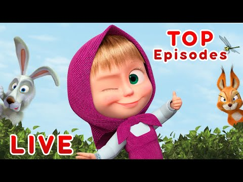 Masha and the Bear 🎬💥 LIVE STREAM 💥🎬 TOP cartoon episodes for kids