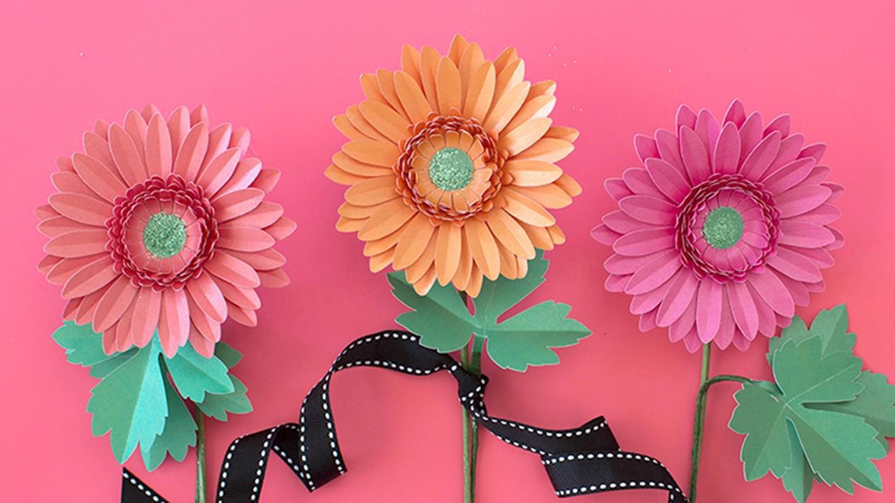 How to make paper flower gerbera daisies youtube how to make paper flower gerbera daisies izmirmasajfo