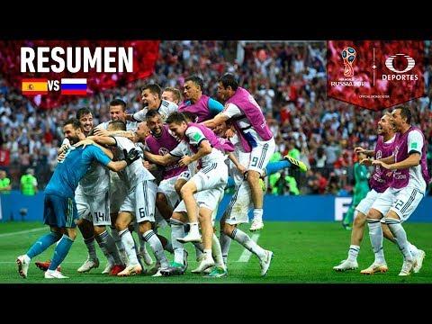 ¡España queda fuera del Mundial!   Resumen España 4 - 5 Rusia   Mundial Rusia 2018