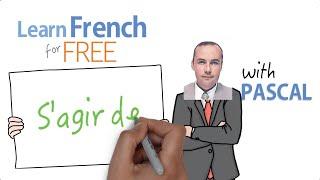 s'agir de in French