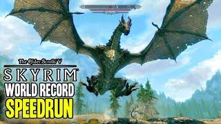 """WORLD RECORD """"SKYRIM"""" SPEEDRUN WILL BLOW YOUR MIND!!!"""