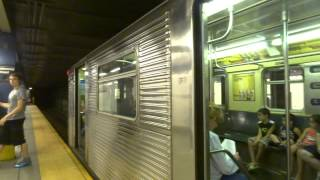 NYC Subway Special: Euclid Avenue-bound R32 (C) Entering & Leaving Delancey Street