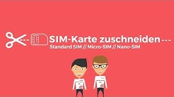 SIM Karte zuschneiden mit der SIM Karten Schablone