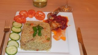 How To Prepare Special Fried Rice With Chopped Tomato Stew- Nigerian