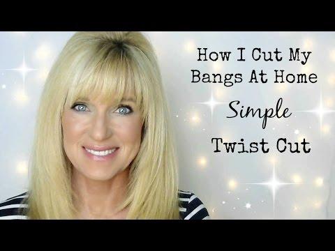 How I Cut My Bangs At Home! Simple Twist Cut!