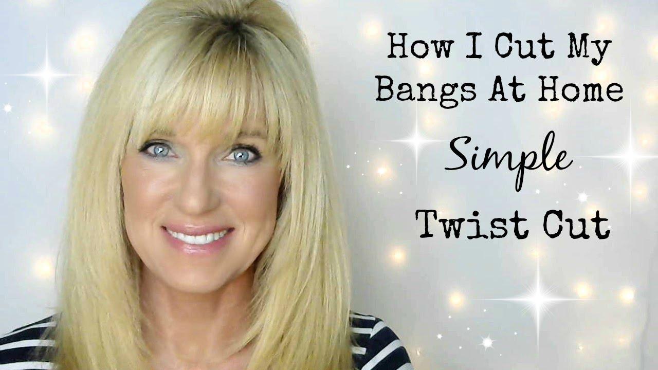 How I Cut My Bangs At Home! Simple Twist Cut! - YouTube