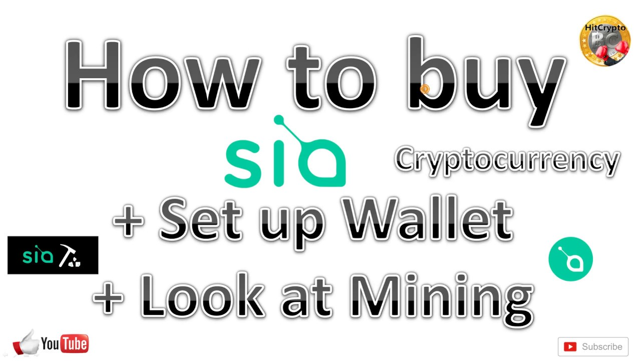 how to buy cryptocurrency sia