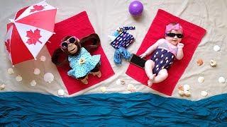 DIY - Beach baby photoshoot at home!