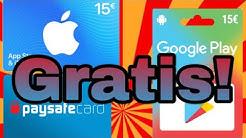 Verlosung! 15€ Itunes/Google Play/Paysafe kostenlos gewinnen! *kein Clickbait*