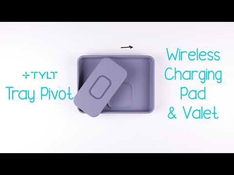 TYLT Tray Pivot | Dual Wireless Charger + Valet