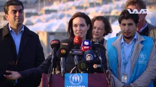 Angelina Jolie's press conference in Duhok 2015- Shahyan Tahseen