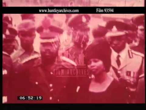 Politics of the Biafran War.  Archive film 93594