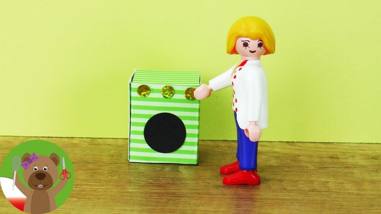 DIY pralka dla rodzinki Playmobil | pomysły na meble i akcesoria Playmobil
