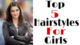 Top 5 hairstyles for girls | beautiful hairstyles | hair style girl | trendy hairstyle