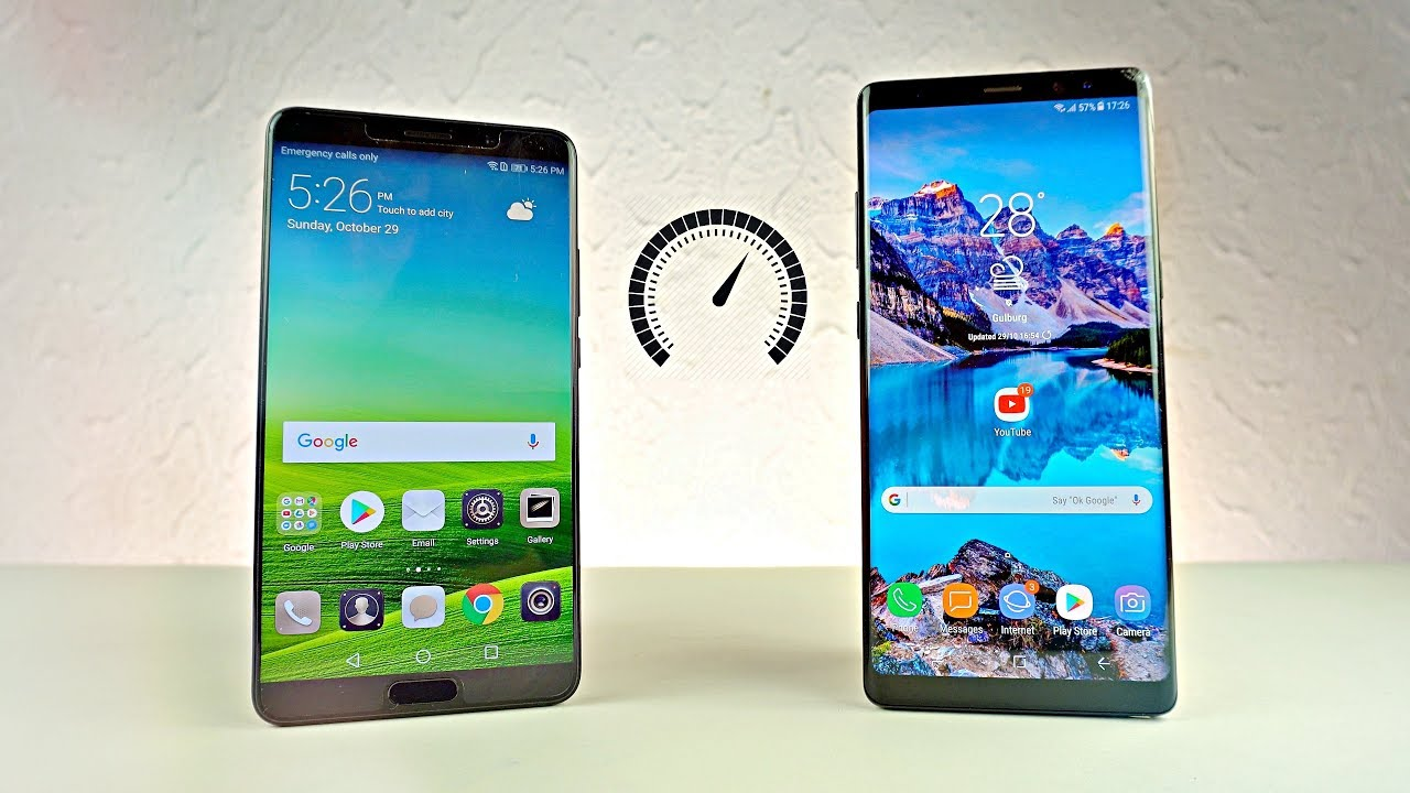 Huawei Mate 10 and Samsung Galaxy Note 8 - Speed Test!