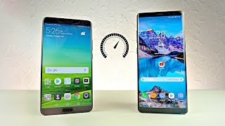 Huawei Mate 10 vs Samsung Galaxy Note 8 - Speed Test! (4K)