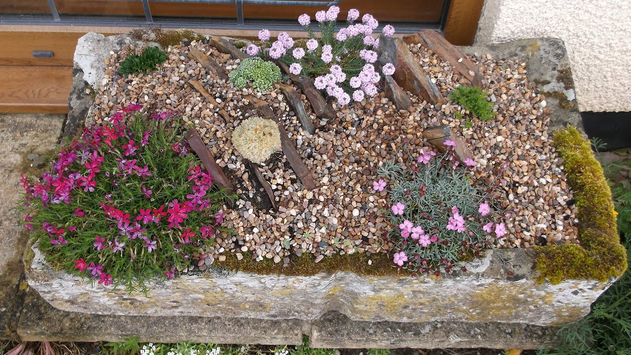 making an alpine crevice garden - and what happened next - youtube