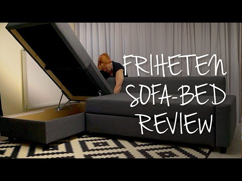 IKEA Friheten Sofa Bed Review | Best Storage Couch ?   YouTube