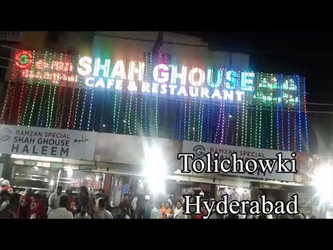 Indian Food Tour in Hyderabad || SHAH GHOUSE at Tolichowki in Hyderabad || Telugu Video
