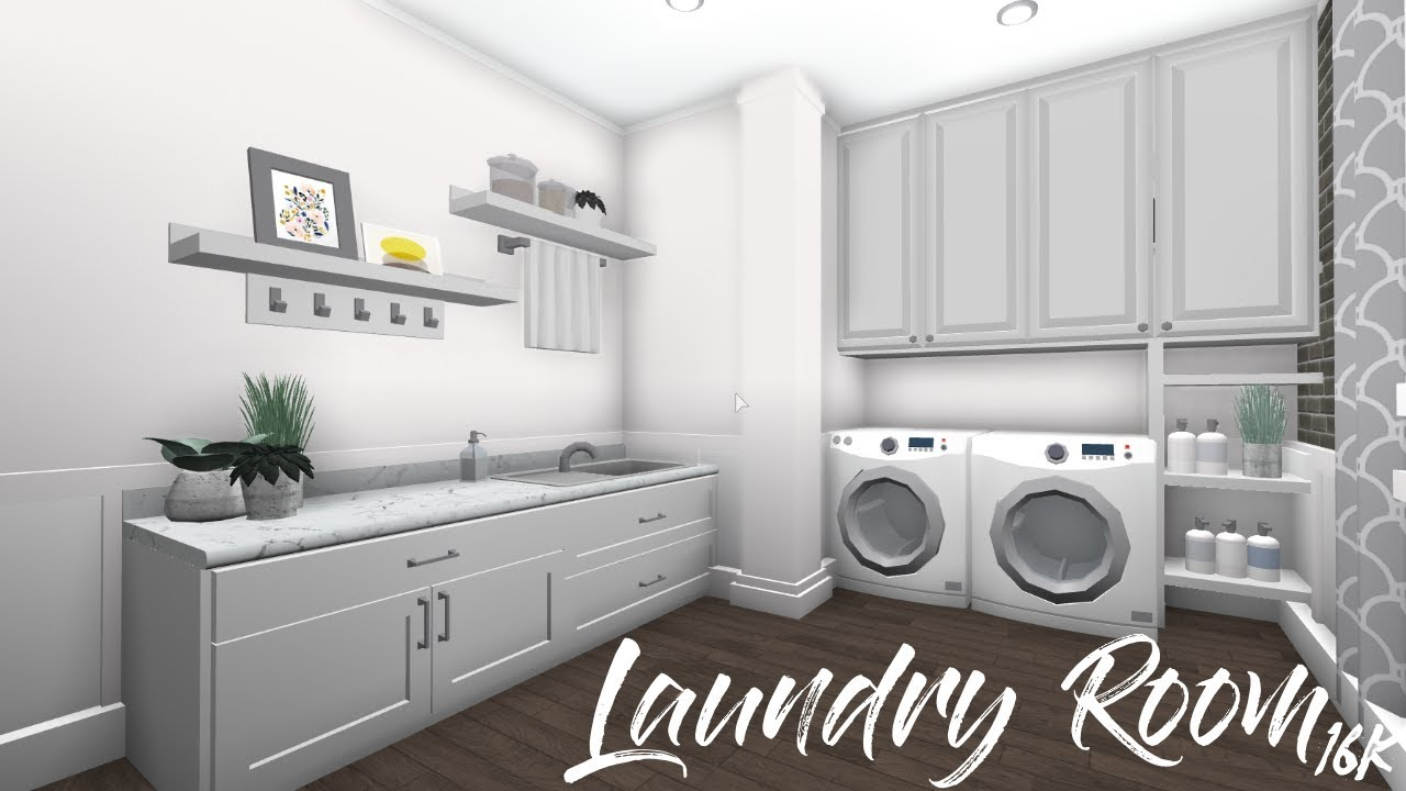 Roblox Room: Welcome To Bloxburg: Laundry Room - YouTube