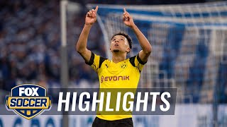 Jadon Sancho gives Borussia Dortmund the win vs. Schalke 04 | 2018-19 Bundesliga Highlights