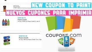 New coupons to print/ nuevos cupones para imprimir