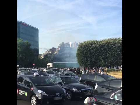 Anti-Uber Protests by Paris Taxi Drivers