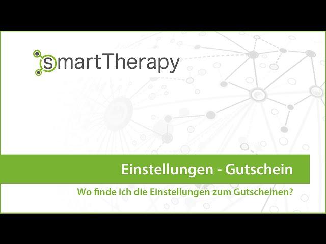 smartTherapy: Einstellungen Gutschein