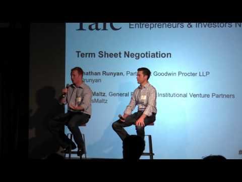 Fundraising: Term Sheet Negotiation