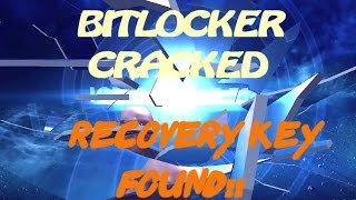 Bitlocker recovery key lost