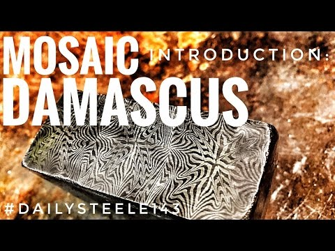HOW TO FORGE: Basic Mosaic Damascus Steel