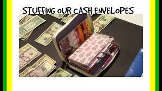 STUFFING Our CASH ENVELOPES 💰 Dave Ramsey system 1.6.2017