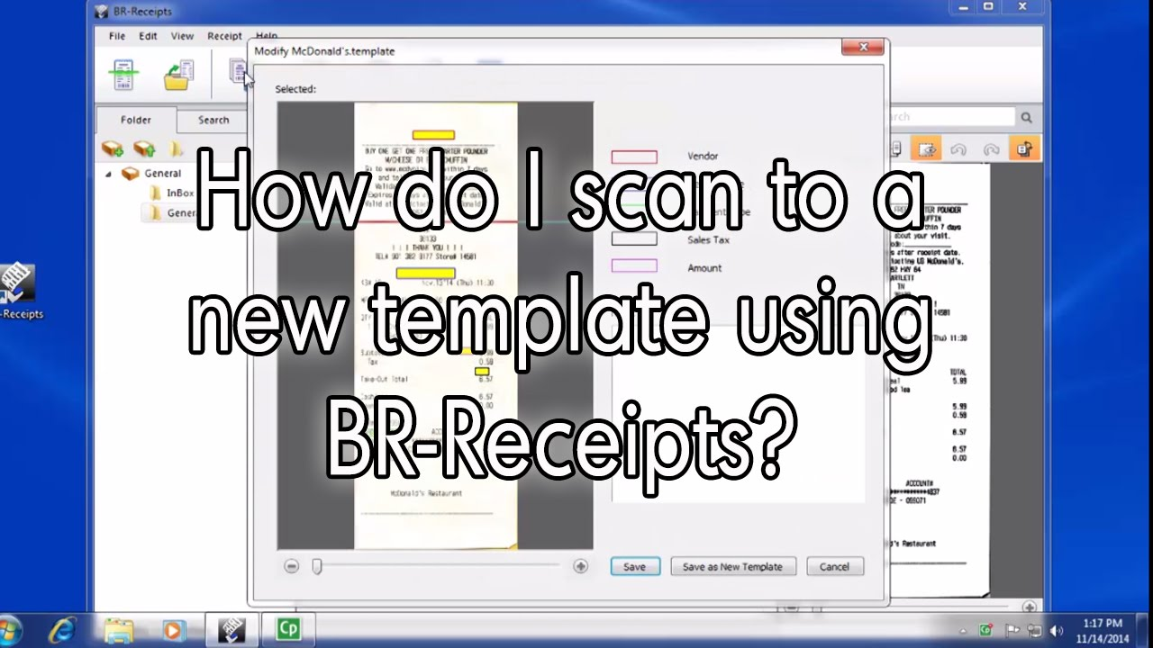 How Do I Scan To A New Template Using Br Receipts Brother Scanners