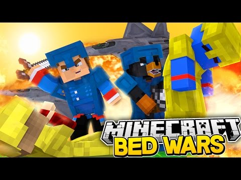 Minecraft BED WARS - THE ENTIRE LITTLECLUB GO TO WAR - Donut the Dog Minecraft Roleplay