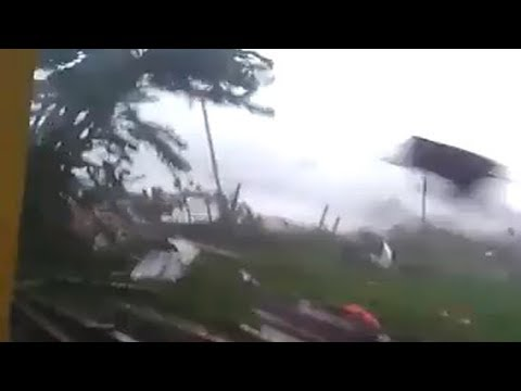 Tornadoes damaged dozens of houses in Rancaekek, Indonesia (Jan 11, 2019)