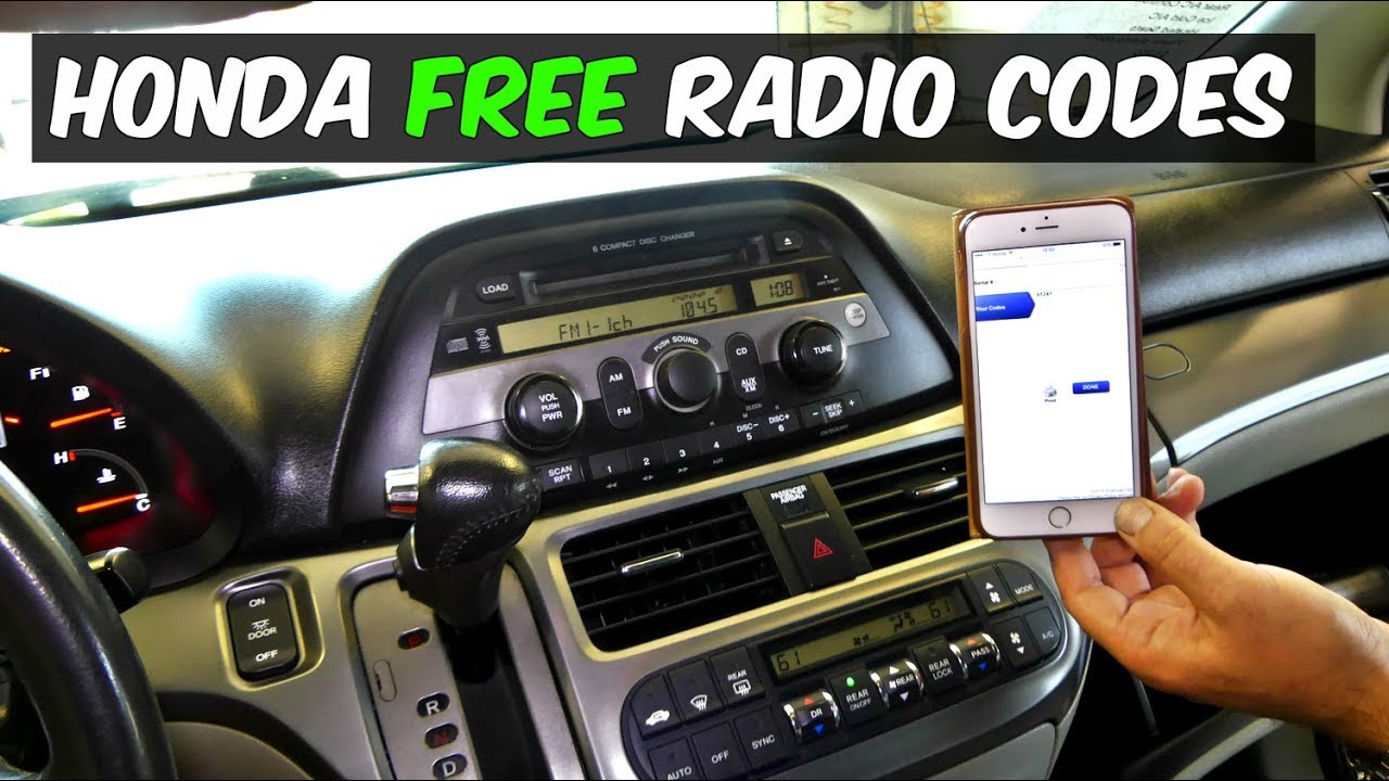 small resolution of honda radio code for free