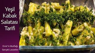 Yeşil Kabak Salatası Tarifi  Green Zucchini Salad Recipe  Buhar Yöntemiyle Kabak Salatası Yapılışı