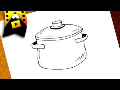 Como Dibujar Una Olla Como Dibujar Una Olla Paso A Paso Youtube