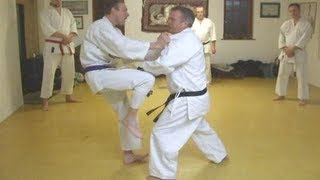 Tom Hill's Karate Dojo; Goju Kata Bunkai; Kururunfa; mid-section
