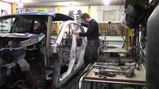 Кузовной ремонт. Ставим боковину на Трибеку. предыдущая серия. Body repair.(Body repair. Кузовной ремонт автомобилей в гараже. Прошу прощения за не последовательность видео по данному..., 2016-01-17T08:20:35.000Z)