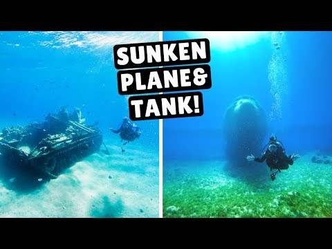 DIVING IN THE RED SEA! Sunken Plane & Military Tank | Aqaba,