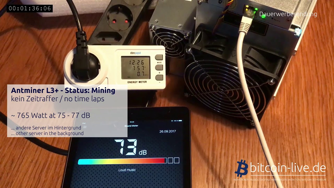 Bitmain L3 Setup Nicehash What Is Antminer D3 Noise Db
