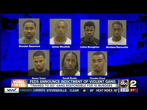 Feds: Gang implicated in 10 Baltimore killings