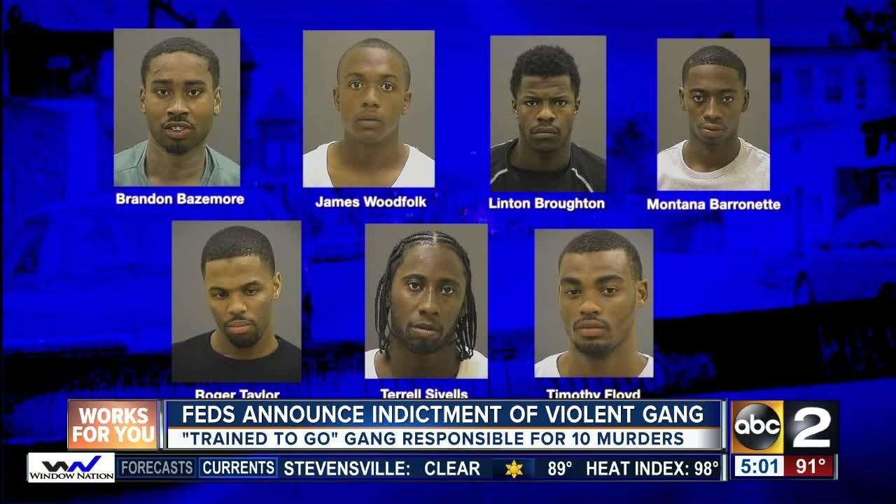 Feds Gang Implicated In 10 Baltimore Killings
