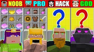 Minecraft NOOB vs PRO vs HACKER vs GOD CLASH OF CLAN CRAFTING CHALLENGE BATTLE Minecraft Animation